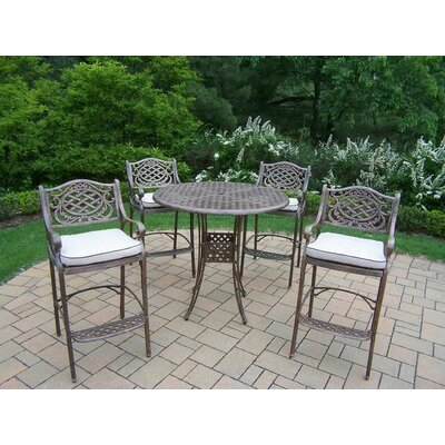 Mississippi 5 Piece Bar Set with Cushions