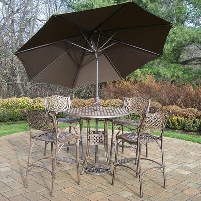 Mississippi 5 Piece Bar Set Umbrella Color: Brown