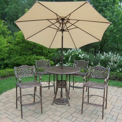 Mississippi 5 Piece Bar Set Umbrella Color: Beige
