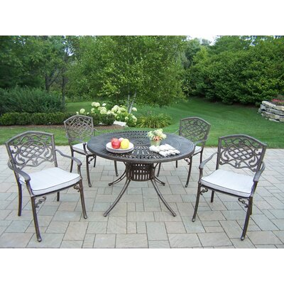 Sunray Mississippi 5 Piece Dining Set with Cushions