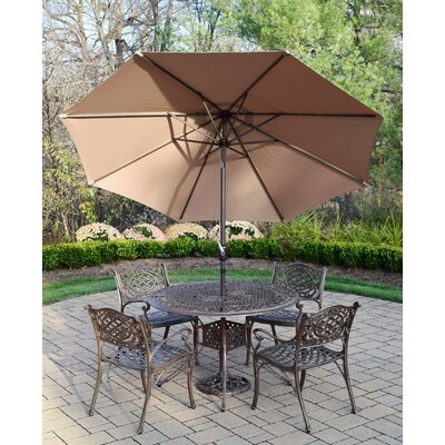 Capitol 7 Piece Dining Set Umbrella Color: Champagne
