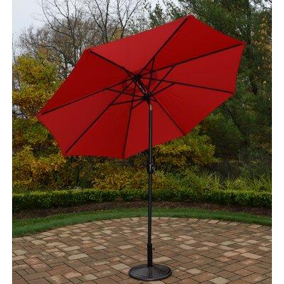 9 Market Umbrella Base Finish: Black, Color: Red