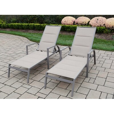 Padded Sling Chaise Lounge