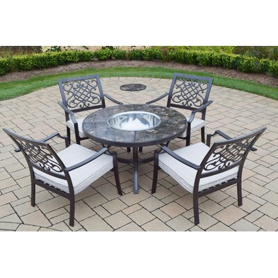 5 Piece Fire Pit Seating Group with Cushions
