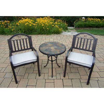 Stone Art Rochester 3 Piece Bistro Set with Cushions