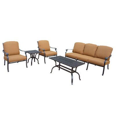 Bosch 5 Piece Deep Seating Group with Cushions