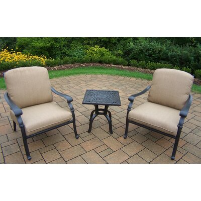 Bosch 3 Piece Deep Seating Chat Set with Cushions Cushion Fabric: Spunpolyester Light Beige