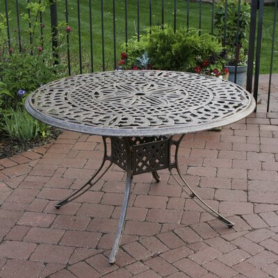 Patio Dining Table Finish: Antique Bronze