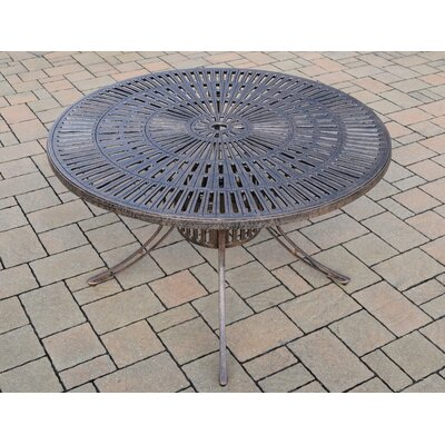 Patio Dining Table Finish: Antique Bronze