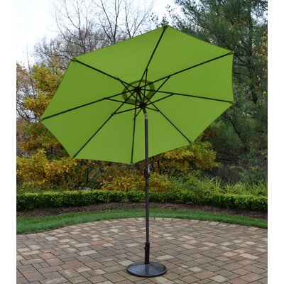 9 Market Umbrella Base Finish: Brown, Color: Green