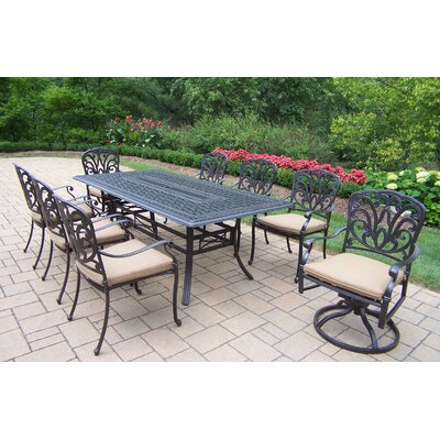 Hampton 9 Piece Dining Set with Cushions