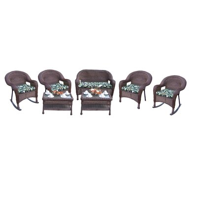 Resin Wicker 7 Piece Seating Group with Cushions Finish: Coffee