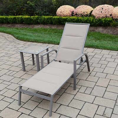 2 Piece Padded Sling Chaise Lounge Set