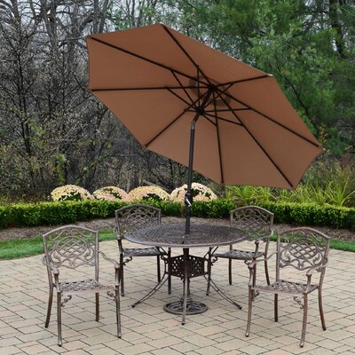 Capitol Mississippi Dining Set Umbrella