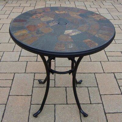 Stone Art Bistro Table Finish: Black