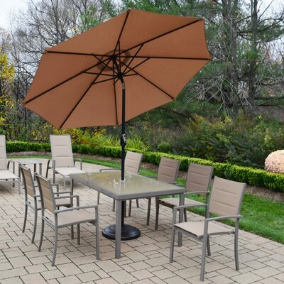 Padded Sling Dining Set Umbrella Base - Product photo