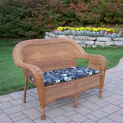 Loveseat with Cushion Finish: Natural