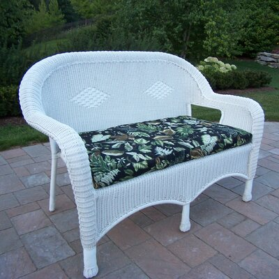 Loveseat with Cushion Finish: White