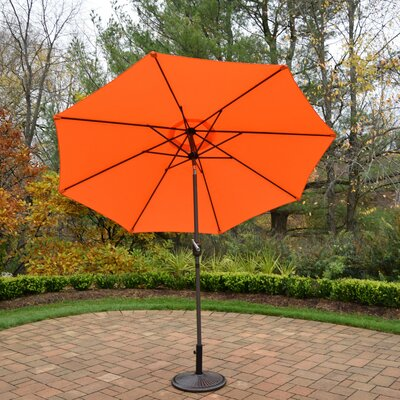 9 Market Umbrella Base Finish: Brown, Color: Orange
