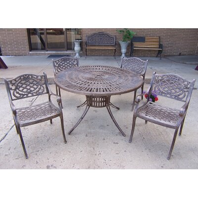 Sunray Mississippi 5 Piece Dining Set Finish: Antique Bronze