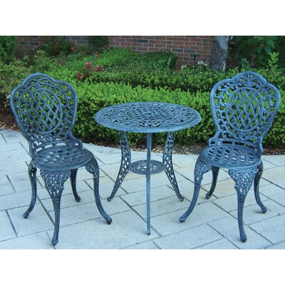 Mississippi 3 Piece Bistro Set Finish: Verdi Gray