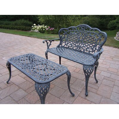 Mississippi 2 Piece Bench Seating Group Set Finish: Verdi Grey