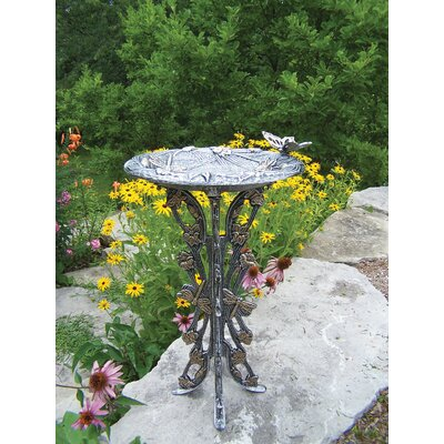 Oakland Living Butterfly Dragonfly Bird Bath - Finish: Antique Pewter at Sears.com