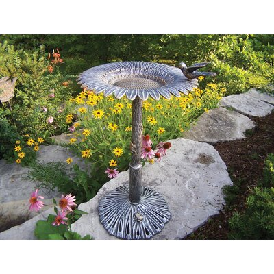 Oakland Living Sunflower Bird Bath - Finish: Antique Pewter at Sears.com