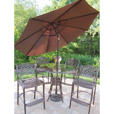 Hummingbird Mississippi 6 Piece Bar Set with Umbrella