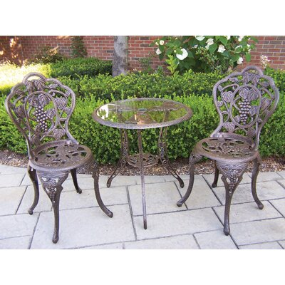 Vineyard Bistro Set Finish: Antique Bronze