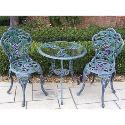 Vineyard Bistro Set Finish: Verdi Purple