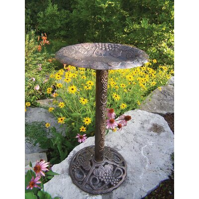 Oakland Living Vineyard Bird Bath - Finish: Antique Bronze at Sears.com