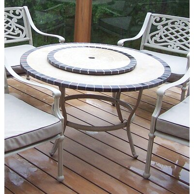 Stone Art Coffee Table with Lazy Susan Finish: Beach Sand