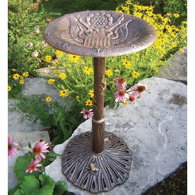 Oakland Living American Eagle Bird Bath - Finish: Antique Bronze at Sears.com