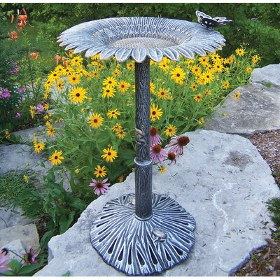 Oakland Living Sunflower Butterfly Bird Bath at Sears.com