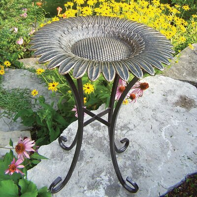 Oakland Living Sunflower Bird Bath on Tower Base at Sears.com