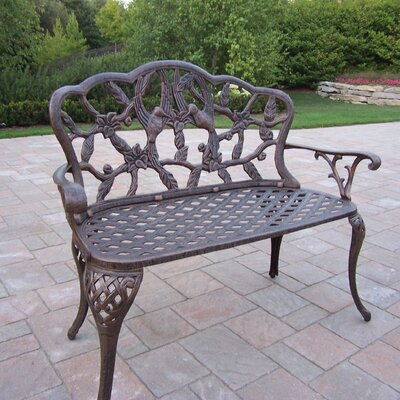 Oakland Living Hummingbird Aluminum Garden Bench - Finish: Antique Bronze at Sears.com