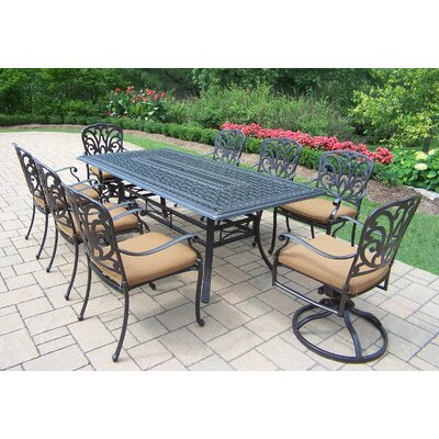 Bosch Upholstered 9 Piece Dining Set with Cushions