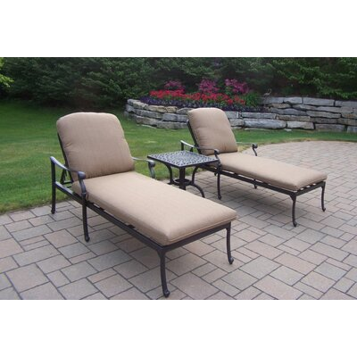 Bosch 3 Piece Chaise Lounge Seating Group Set