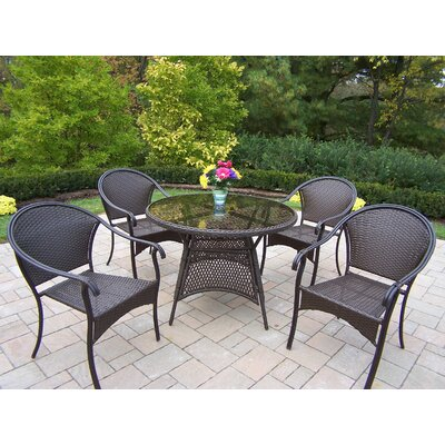 Tuscany 5 Piece Dining Set Color: Coffee