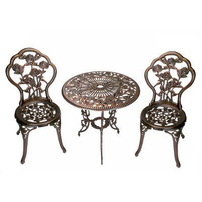 Rose 3 Piece Bistro Set
