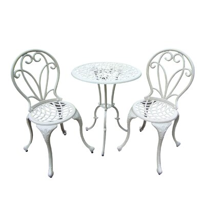 Grace 3 Piece Bistro Set Finish: Beach Sand