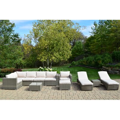 11 Piece Deep Seating Group with Cushion