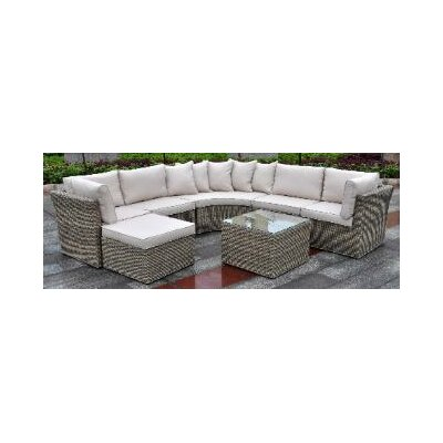 Borneo Modular 7 Piece Deep Seating Group with Cushion