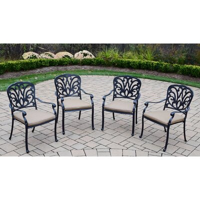 Bosch Aluminum 9 Piece Dining Set with Cushions and Umbrella