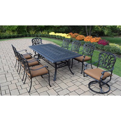 Bosch Outdoor 9 Piece Dining Set with Cushions