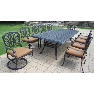 Bosch Metal 11 Piece Dining Set with Cushions