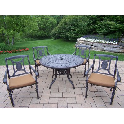 Victoria 5 Piece Dining Set with Cushions