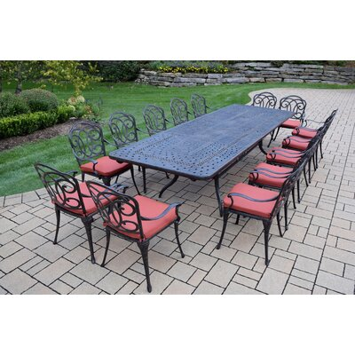 Berkley 15 Piece Dining Set with Cushions