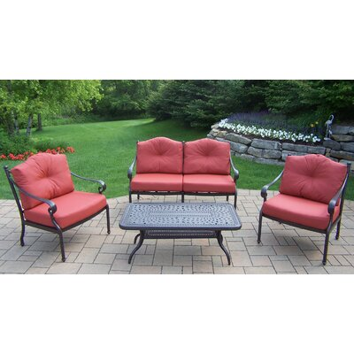 Berkley 4 Piece Deep Seating Group with Cushions